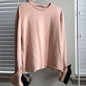 Zara sweatshirt with bow details